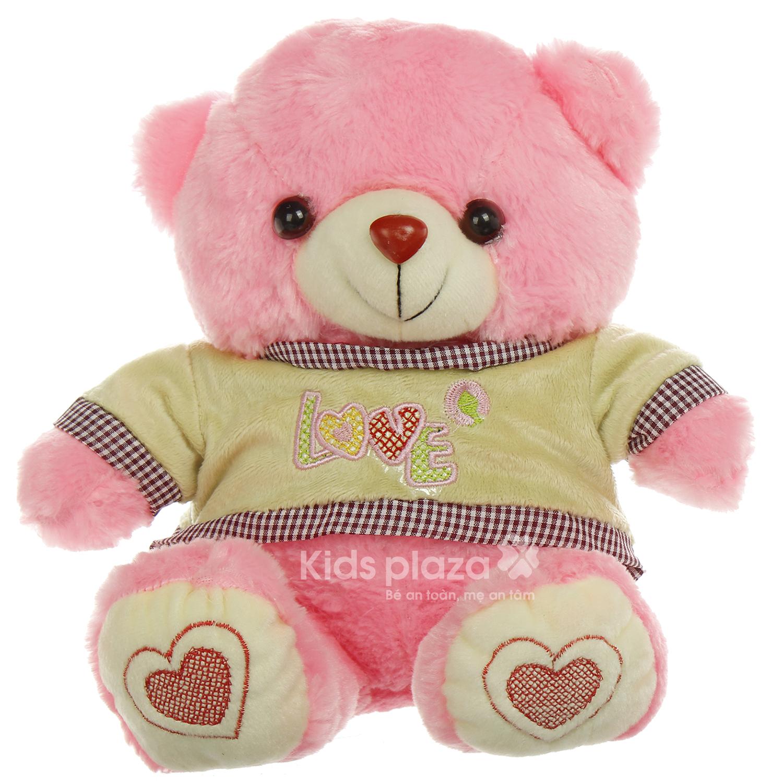Gấu bông mặc áo Kids Love màu sắc nổi bật