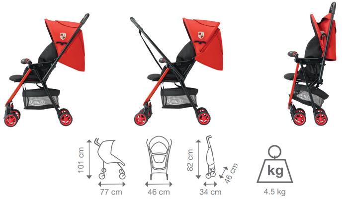 Xe đẩy Graco Citilite R thiết kế thông minh