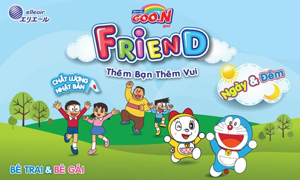 Bỉm Goon Friend với bao bì bắt mắt