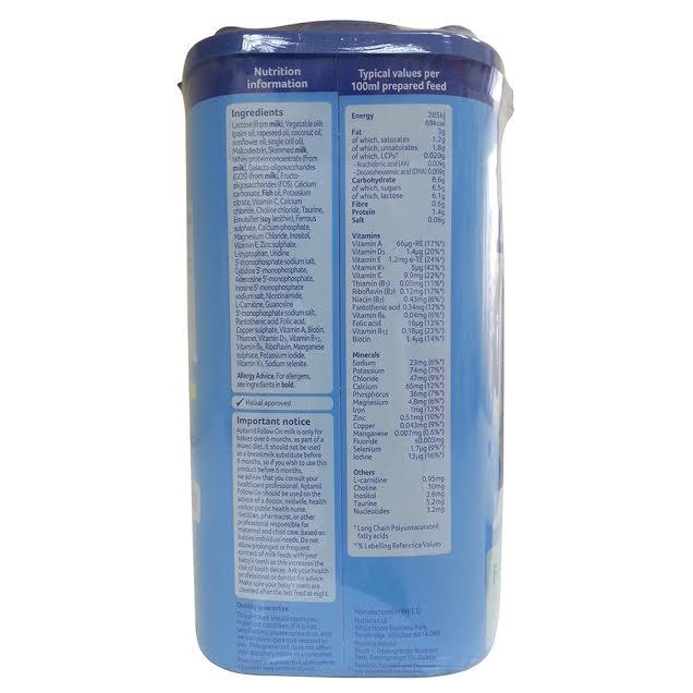 Sữa Aptamil số 2 Anh 900g cho bé từ 6 - 12 tháng tuổi