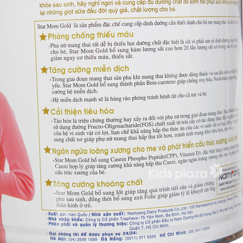 Sữa bột Star MOM hộp 800g nguồn dưỡng chất cho bà mẹ có thai