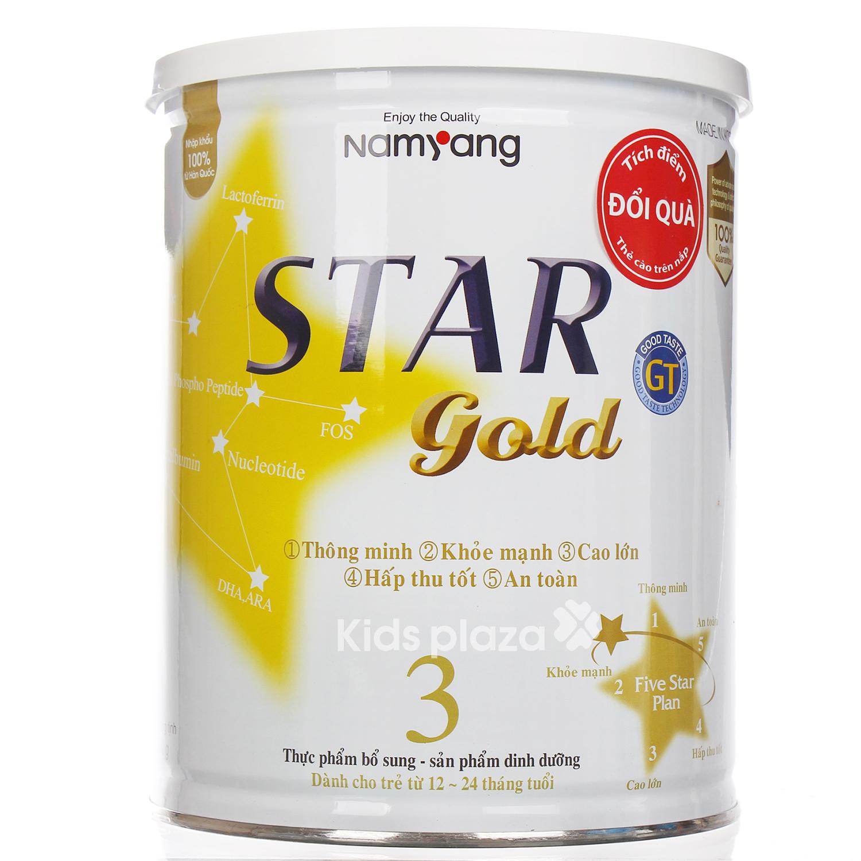 Sữa bột cho bé Star Gold số 3 hộp 800g dành cho bé 12 - 24 tháng