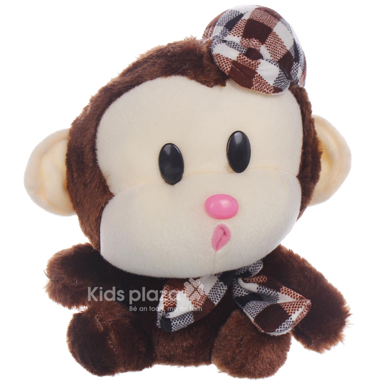 Thú bông hình khỉ đội mũ Kids-085 được các bé ưa thích