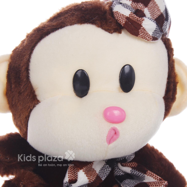 Thú bông hình khỉ đội mũ chất liệu an toàn cho bé
