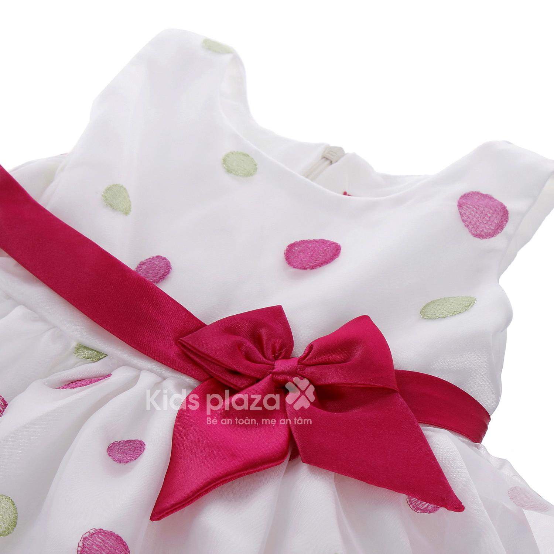 Váy bé gái chấm bi có nơ BFS thiết kế dễ thương