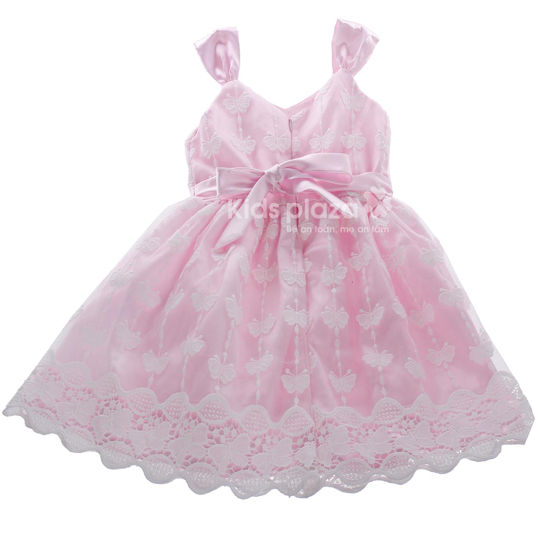 Váy bé gái thêu hình bướm BFS chất liệu vải mềm mại