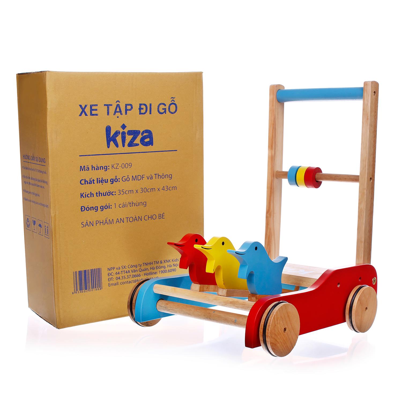 Xe tập đi gỗ Kiza được các mẹ tin dùng