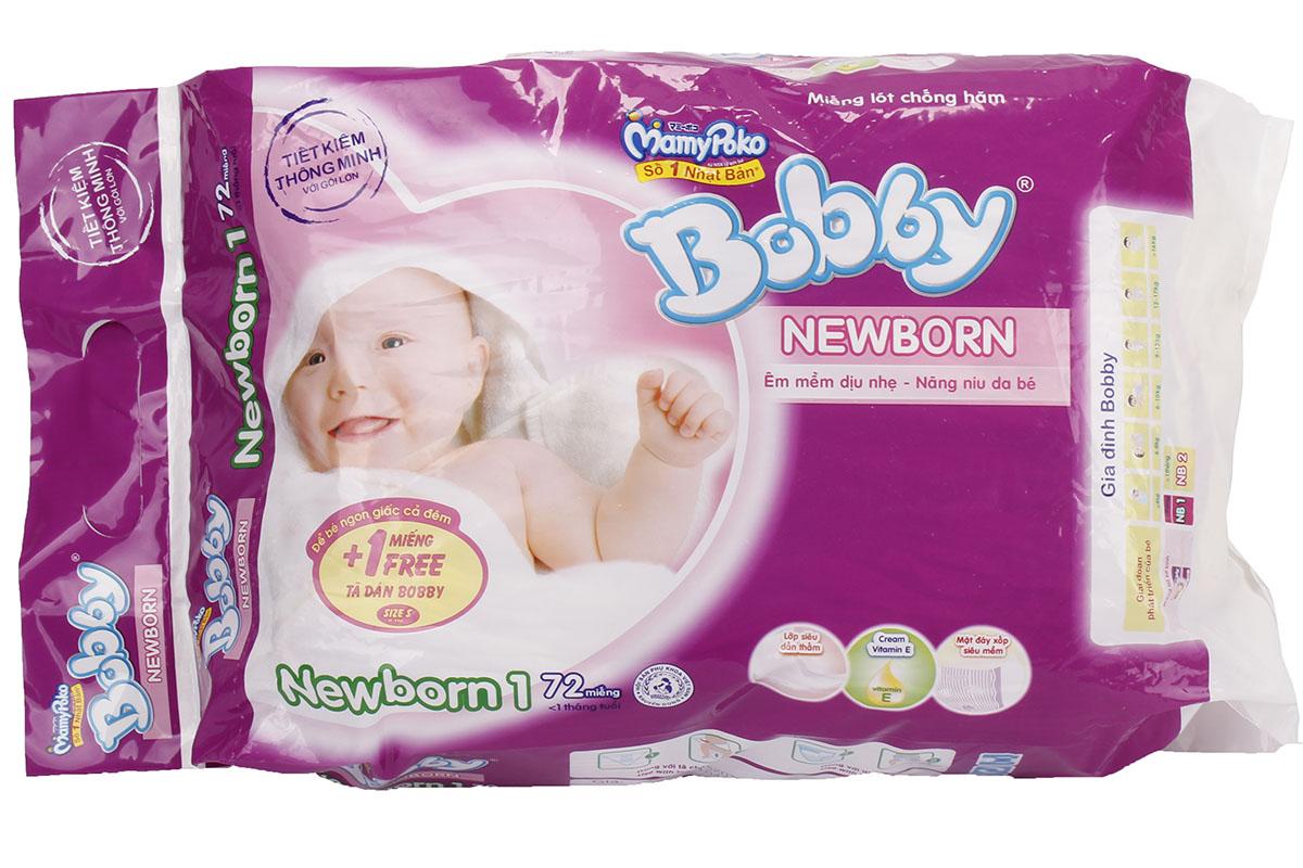 Bỉm newbonrn 1 túi 72 miếng an toàn cho bé