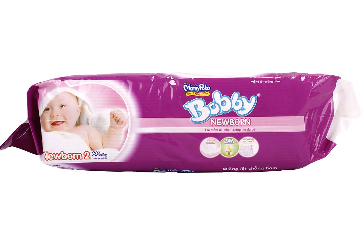 Bỉm bobby newborn 2 túi 60 miếng an toàn cho bé