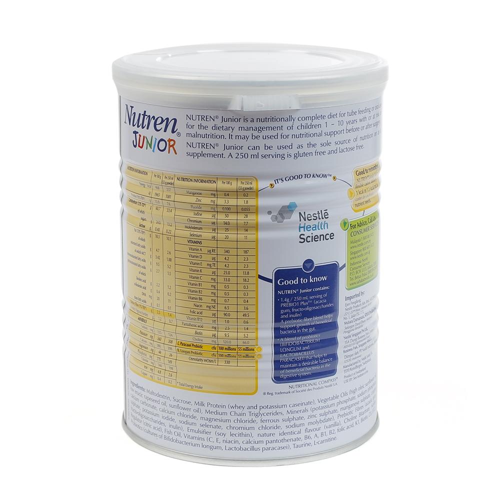 Thành phần sữa Nutren Junior 400g