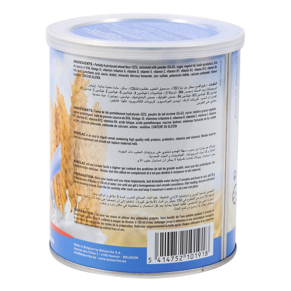 Bột Ninolac lúa mì sữa hộp 400g vị lúa mỳ và sữa